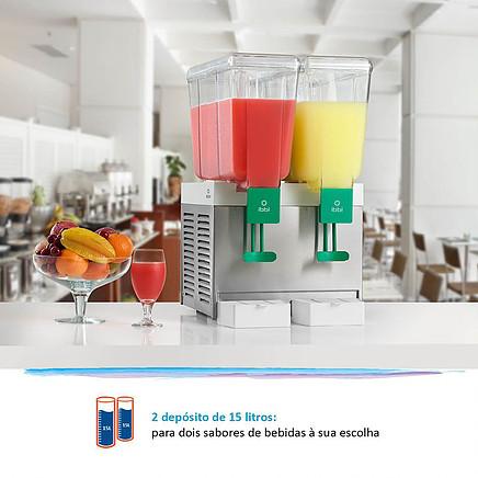 Refresqueira ou Suqueira IBBL BBS2 INOX duplo reservatório