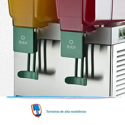 Refresqueira ou Suqueira IBBL BBS2 INOX duplo reservatório duas torneiras